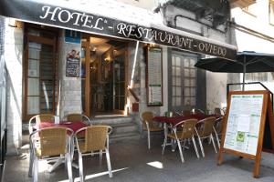 Terraza del Hotel Oviedo en Luarca